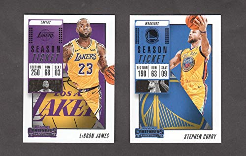 2018 2019 Panini Contenders NBA Basketball Series Complete Mint Basic 100 Card Veteran Players Set with Lebron James Stephen Curry Kevin Durant and More