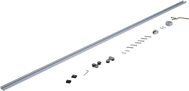 Homcom – 6,5 pies/2 m acero inoxidable puerta corredera Kits juego de granero de Hardware armario sistema de pista de estilo moderno para puerta de madera.: Amazon.es: Bricolaje y herramientas