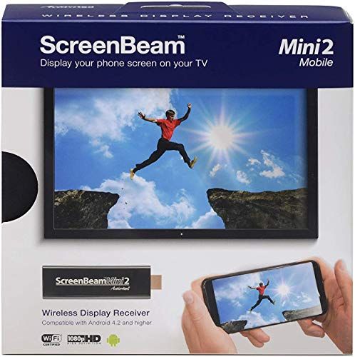 Actiontec ScreenBeam Mini2 Mobile Wireless Display Adapter with Miracast (SBWD60MBL01) - Mirror Phone Screen to HDTV, HDMI Connector, No Apps Required, Supports Select Microsoft & Android Devices