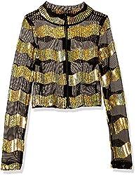 Girls Big Sequin Stripe Jacket