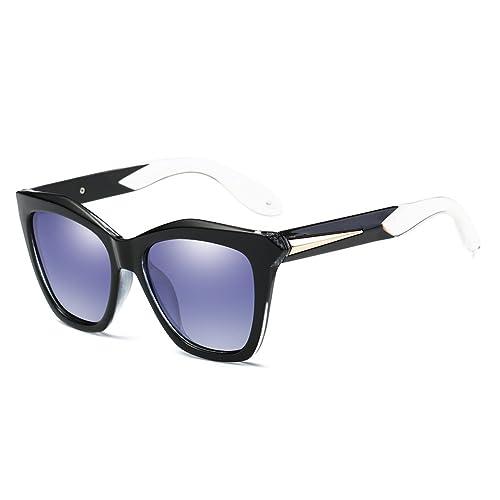 NUVOLA Sonnenbrille Brille UV Damen Herren Fashion Quadrat Linse Schwarz Rahmen Metall gutes Geschenk Valentinstag EW37Ov049