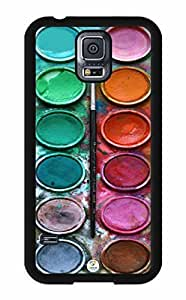 iZERCASE Colorful Watercolor Set RUBBER Samsung Galaxy S5 Case - Fits Samsung Galaxy S5 T-Mobile, AT&T, Sprint, Verizon and International