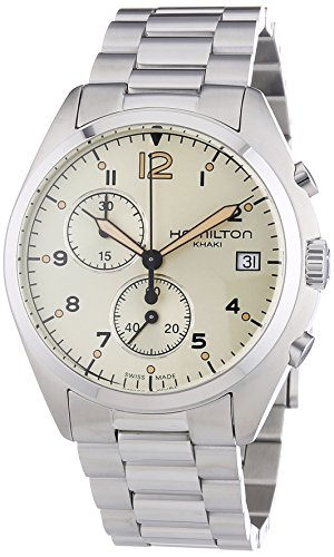 - Hamilton Men's 'Khaki Aviation' Swiss Quartz Stainless Steel Dress Watch, Color:Silver-Toned (Model: H76512155)