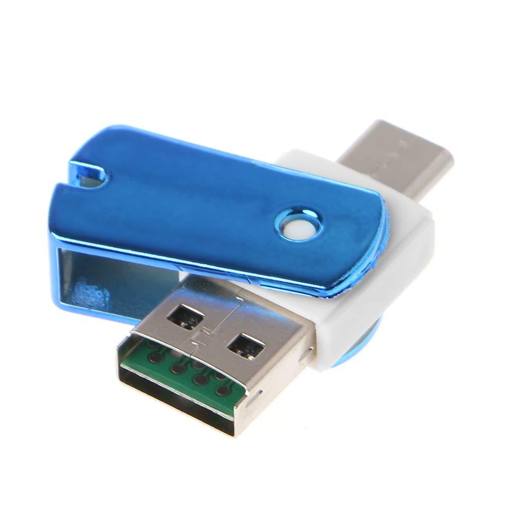 Adattatore USB 3.1 C USB-C a Micro SD TF yuaierchen Lettore di schede per PC e cellulari