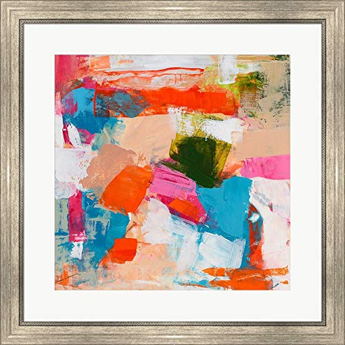 (Immersed Sequence II by Tracy Lynn Pristas Framed Art Print Wall Picture, Silver Scoop Frame, 26 x 26 inches)