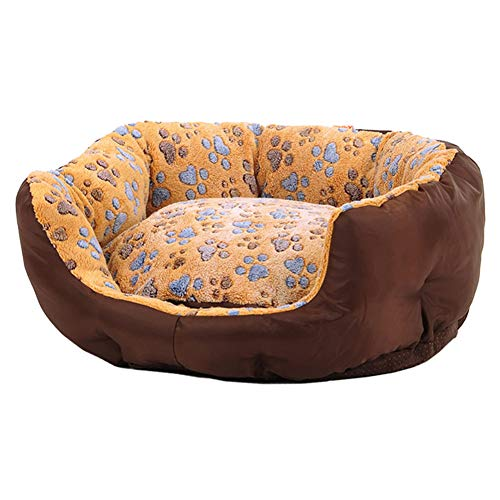 LXLA - Round Deluxe Dog Bed with Warm Fleece Lined and Oxford Sides, Removable Washable & Non-Slip (Size : 90×83×20cm) -