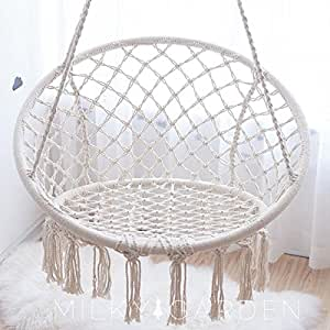 Milky Garden Hammock Chair