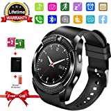 Smart Watch, Bluetooth Smartwatch with Camera TouchScreen,Smart watches with SIM Card Slot, Sport Smart Wrist Watch Fitness Tracker Smart Watch Compatible Android IOS Smart Phones for Men Women Kids