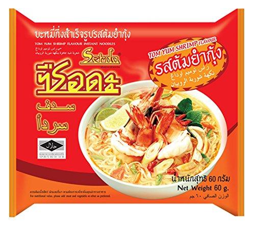 Serda Tom Yom Shrimp Flavour Instant Noodles,(60g) Halal Food
