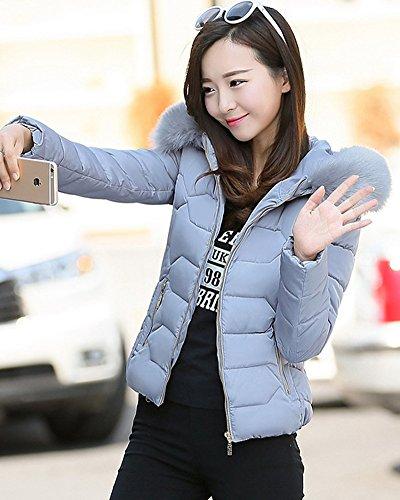 ZhuiKun Manteau Hiver Femme Court Automne Jacket Veste Ov7PqOx