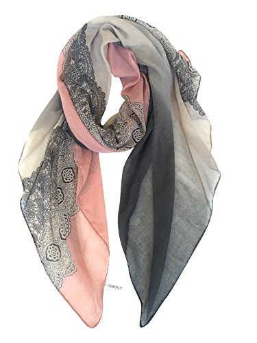 GERINLY Lightweight Scarves: Fashion Lace Print Shawl Wrap