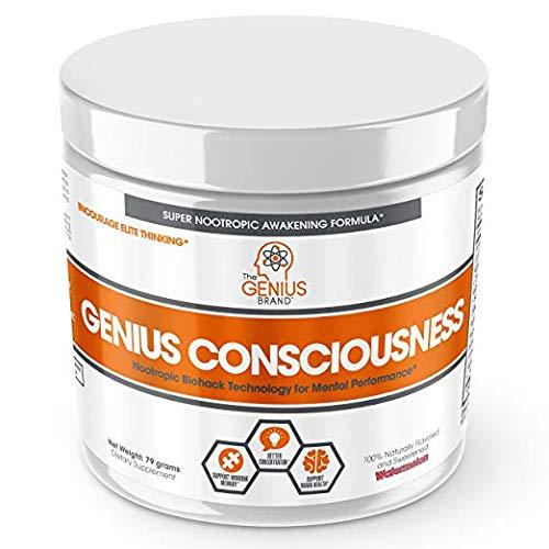 (Genius Consciousness - Super Nootropic Brain Booster Supplement - Enhance Focus, Boost Concentration & Improve Memory | Mind Enhancement with Alpha GPC & Lions Mane Mushroom for Neuro Energy & IQ)