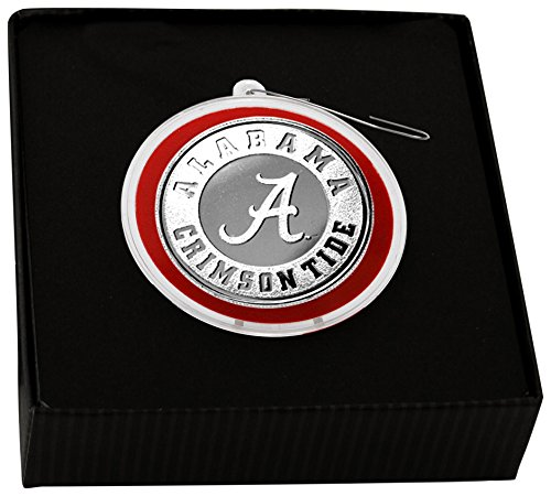NCAA Alabama Crimson Tide Coin Ornament, Silver, 8