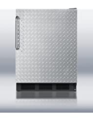 Summit FF6B7DPL Refrigerator, Silver With Diamond Plate