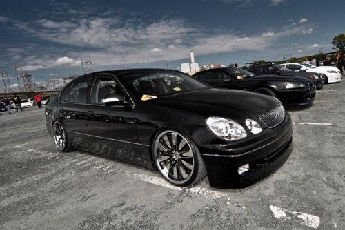 Lexus Aristo Black Right Front Hd Poster Flush Vip Car Print