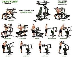 Leverage Gym Tunturi WT80 Kraftstationen Fitnessger/äte Multifunktionale Fitnessstationen Trainingsstation