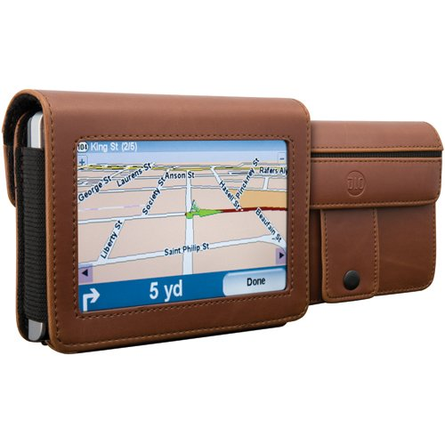 - DLO DLG24199/17 4.3-Inch TravelFolio GPS Leather Case (Brown)