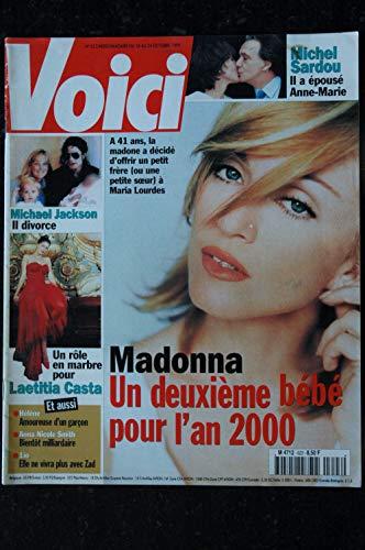 VOICI 623 OCTOBRE 1999 COVER MADONNA UN DEUXIEME BEBE POUR L'AN 2000 MICHAEL JACKSON IL DIVORCE LAETITIA CASTA HELENE ()