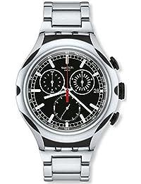 Swatch Energy Chronograph Black Dial Aluminium Mens Watch YYS4000AG