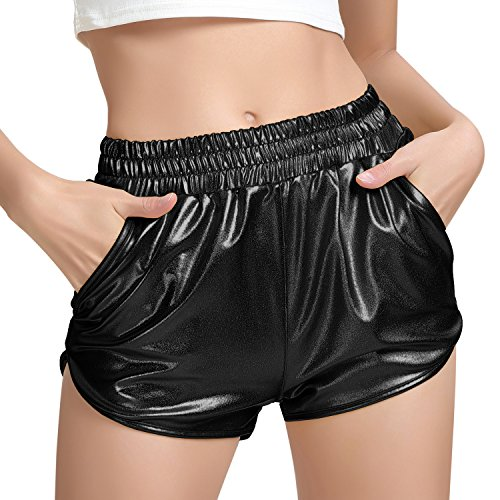 Sparkly Spandex Rave Shorts for -