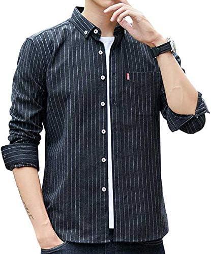 NCFBAG シャツ メンズ 長袖 オシャレストライプ ビジネス カジュアル ゆったり 大きいサイズ ワイシャツ 春 夏 秋 冬 人気 快適