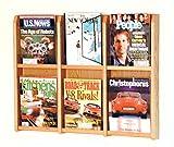 Wooden Mallet Divulge 6 Magazine Wall Display Storage Rack Light Oak electronic consumers