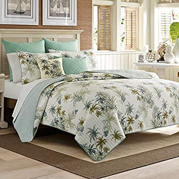 Tommy Bahama King Sham Serenity Palms, Blue