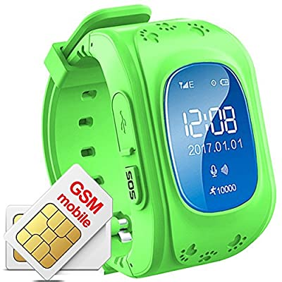 TKSTAR Gps Tracker Smart Watch Phone Two-way Call for Kids with SIM Slot SOS Call Anti-lost Alarm Remote Monitor GPS/LBS Locator Smart Bracelet Watch Support Android IOS No Monthly Fee Q50 from JUNEO