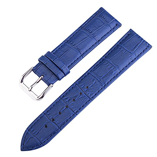 Leather 12mm Watch Genuine Bands - 12mm Blue High-end Premium Alligator Grain Leather Watch Band Strap for Women Genuine Cowhide Leather