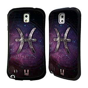 Head Case Designs Pisces Nebula Zodiac Symbols Hybrid Gel Back Case for Samsung Galaxy Note 3 N9000 N9002 N9005