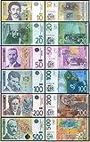 Lot Serbian banknotes 10, 20, 50, 100, 200, 500 dinars UNC