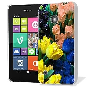 Pictoral carcasa de silicona y TPU Carcasa para Nokia Lumia 530–Tulip Bunch silicona