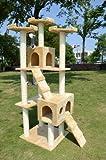 Pawhut 72″ Beige Cat Tree Condo Pet Scratcher Furniture, My Pet Supplies