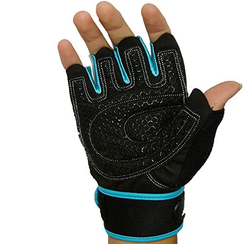 Pink Lizard Motorcycle Half Finger Gloves Lengthened Wrist Fitness Gloves