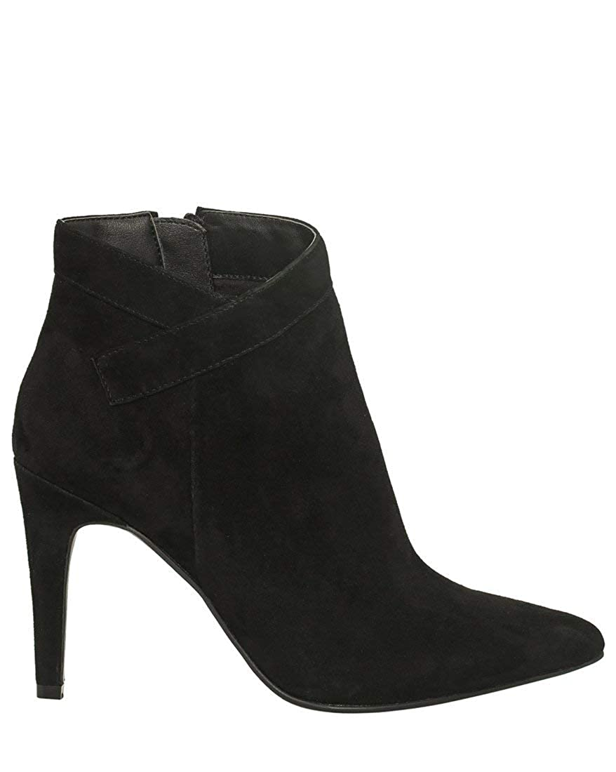 Black LE CHÂTEAU Pointy Toe Suede Ankle Boot