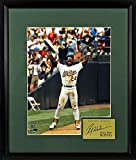"Oakland Athletics Rickey Henderson ""Stolen Base King"" 11x14 Photograph Framed (SGA Signature Engraved Plate Series)"