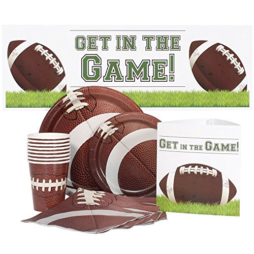 Birthday Direct Football Party Kit for 16 Includes Plates, Napkins, Cups, Banners, and Decorations - 68 Pieces - Sports Party Supplies for Adult, Boys Birthday