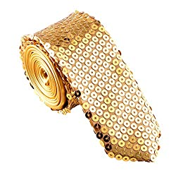 Men's Fashion Sequin Skinny Tie