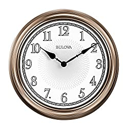 Bulova C4826 Light Time Wall Clock, Champagne