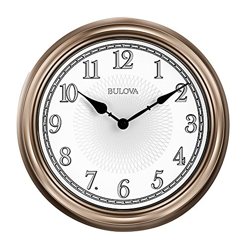 Bulova Clock - Bulova Light Time Wall Clock, Champagne