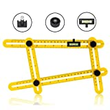 Angle-izer Template Tool Multi Angle Measuring Ruler with Line Level, General Tools for Carpenter, DIY-ers, Handymen, Craftsmen, Builders