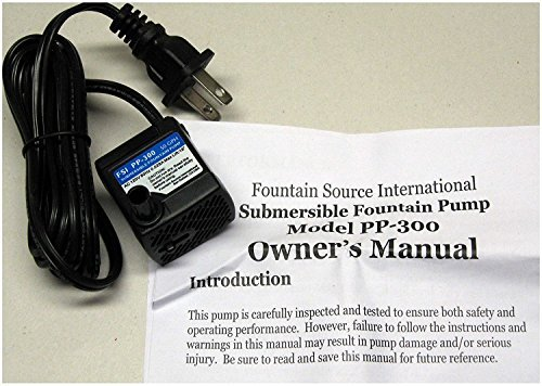 Bamboo Accents 50GPH 120V Submersible Fountain Pump (2-Wire), PP-300