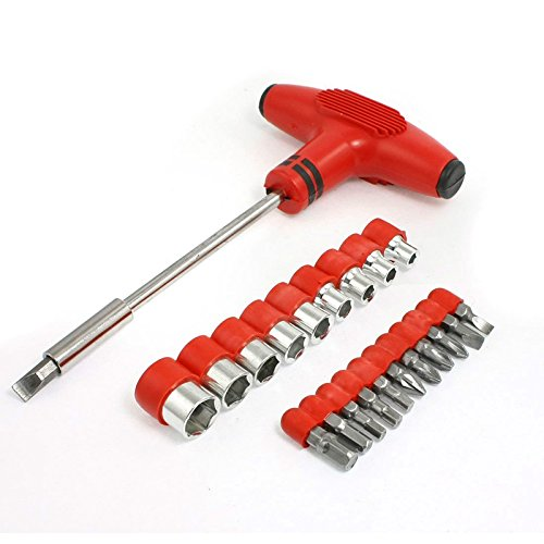 SODIAL 22 1 hexagon with T-handle socket screwdriver bits Se