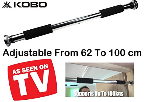 Kobo Door Pull Up Gym Bar/Chin Up Bar/Height Bar Adjustable 64-100 cm (Imported)