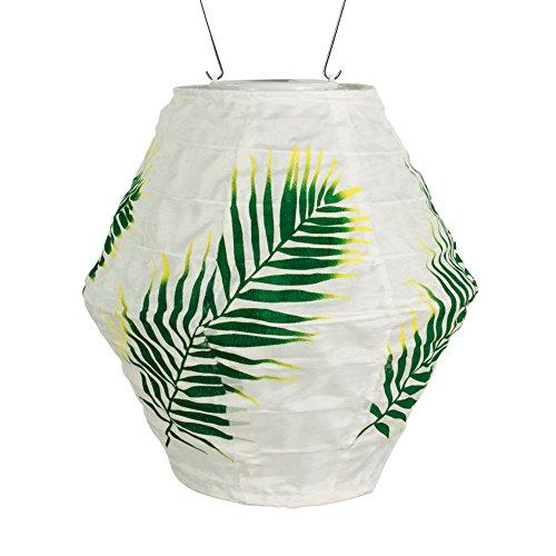 Allsop Home & Garden 31861 Soju Canvas Green Palm Solar Lantern,