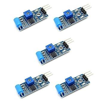 5 piezas SW-420 módulo de Sensor de vibración interruptor de ...