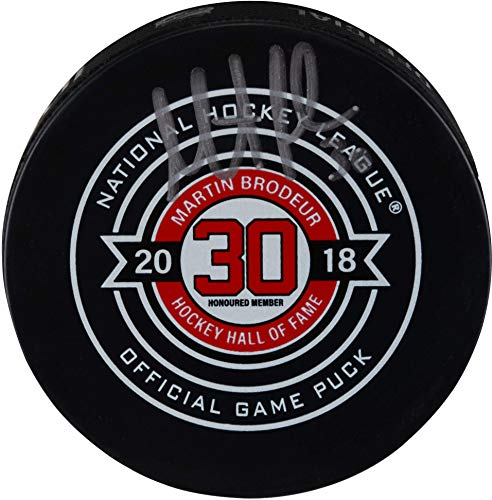 Martin Brodeur New Jersey Devils Autographed November 13, 2018 Hall Of Fame Night Official Game Puck - Fanatics Authentic Certified (Brodeur Memorabilia Martin)