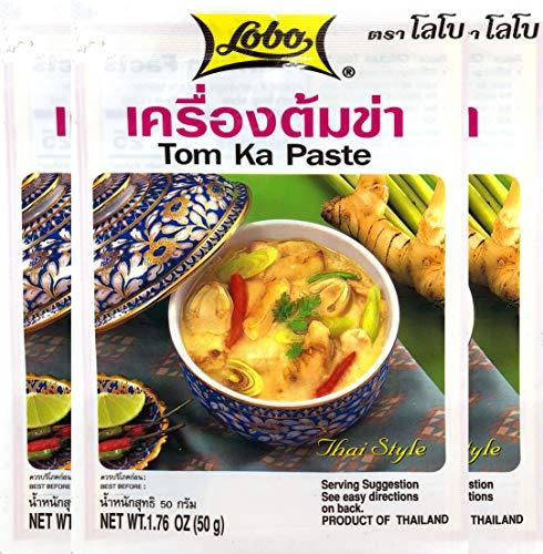(Lobo Envelope Packet Thai Paste, Tom Ka, 1.76 Ounce (Pack of 3))