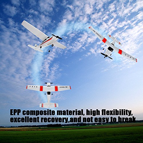 Remote Control Airplane for Beginners &Intermediate Flight Game Players F949 3CH 2.4G RC Airplane RTF Glider EPP Composite Material 14+,Designed According To Cessna-182 Plane (White) by succeedtop ❤️ Ship from US ❤️ (Image #4)