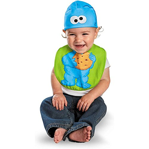 Baby Cookie Monster Costumes (Cookie Monster Bib & Hat Baby Infant Costume - Newborn)